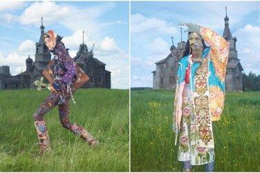 ГАЛЕРЕЯ  Ужас какой! Итальянский Vogue устроил фотосессию в русской деревне 2445f19dda62e