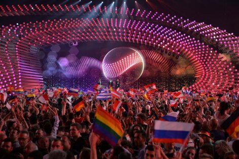 """Venemaal vikerkaarelippe lehvitada ei maksa, Eurovisionilgi peab peale passima, et need Venemaa esinemise ajal """"poliitilisel viisil"""" esile ei tuleks. Hetk mulluselt peolt"""