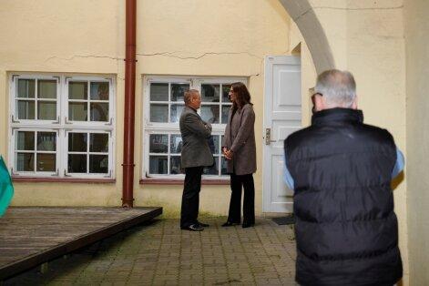 Heimar Lenk pildistab Jaak Aabi ja Olga Ivanovat