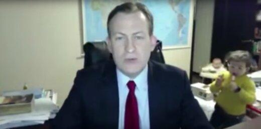 Naerutav NETIHITT: BBC uudistesaates intervjuud andva eksperdi lapsed tahavad ekraaniajast hirmsasti osa saada