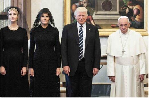 Humoorikad FOTOD: Alati rõõmsameelne paavst Franciscus on Donald Trumpi kõrval seistes kole mossis