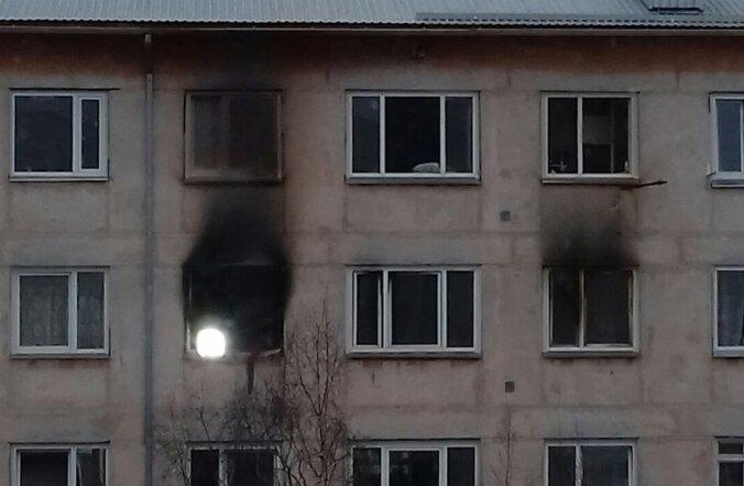 Põleng Paldiski viiekorruselises majas