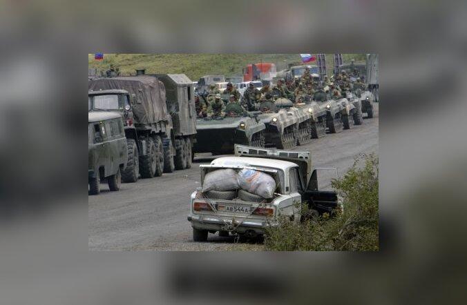 vene, sõjaväegi, armee, kolonn, tehnika, soomuk, sõda, kaukaasia, gruusia, abhaasia