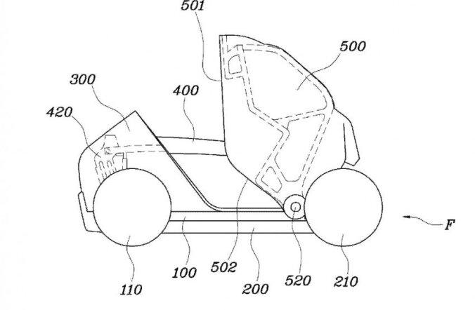 Hyundai patenteerib kokkuvolditava linnaauto