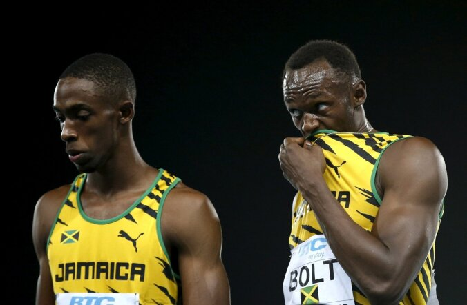 Ryan Bailey ja Usain Bolt
