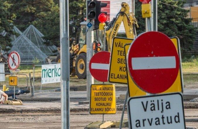 Pärnu maantee remont Tallinnas. Liivalaia ristmik
