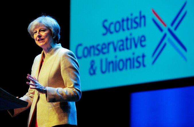 Briti peaminister Theresa May vihastas oma silmakirjaliku kõnega paljusid šotlasi.