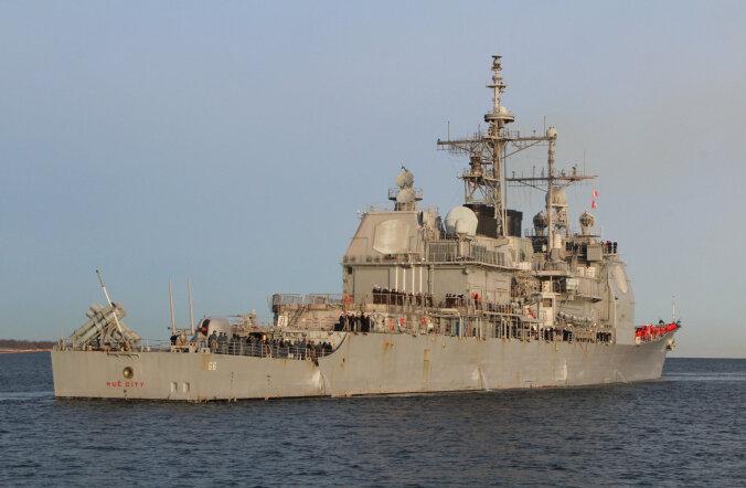 FOTOD: Tallinnasse saabus Eesti Vabariigi aastapäeva külalisena USA ristleja USS Hué City
