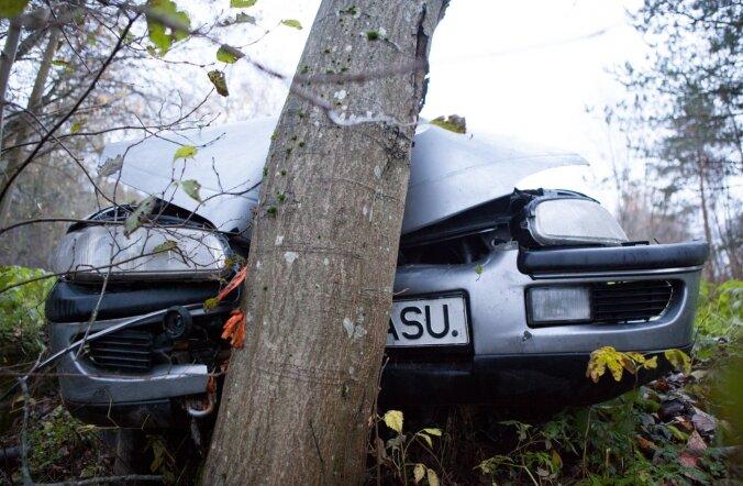 Хроника ДТП: Ford и Opel врезались в деревья — один водитель заснул, другой был пьян