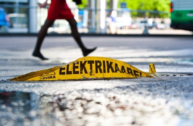 Elektrikaabel Tallinki hotelli juures