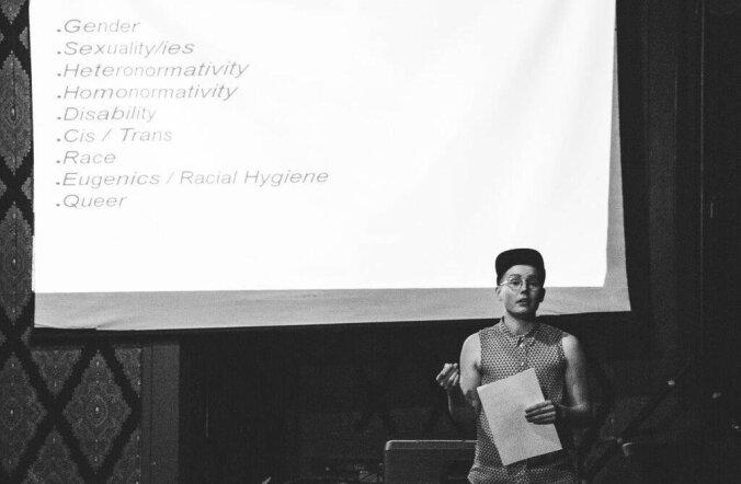 Naiskultuuri festivalil LadyFest pidas soost ja poliitikast loengu Soome aktivist Ruka Toivonen. Üritus toimus Soome instituudi toetusel.