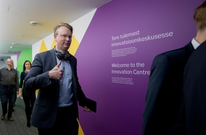 SEBi strateegiajuht Rasmus Järborg innovatsioonikeskuse avamisel.