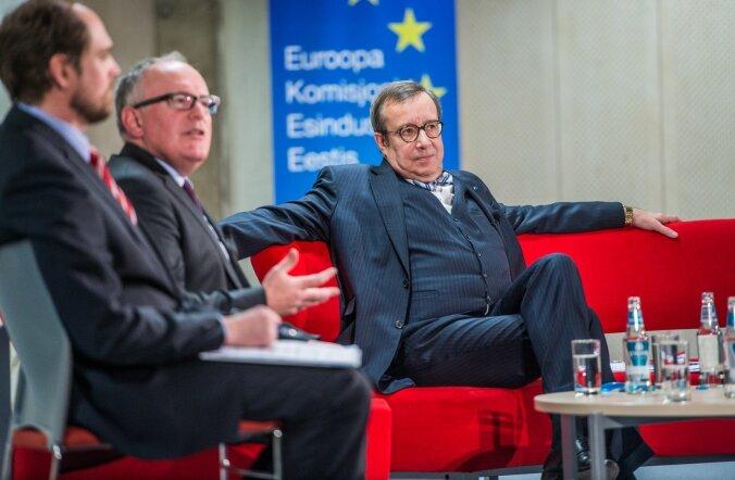 Toomas Hendrik Ilvese ja Frans Timmermansi debatt Tallinna Ülikoolis
