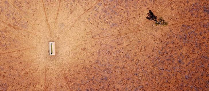 ФОТО: Жуткая красота австралийской засухи с высоты птичьего полета