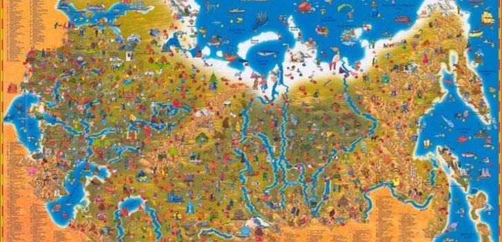 Venemaa kaart huvitavate piiridega