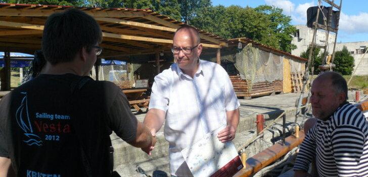 Eesti vanim purjelaev Blue Sirius külastas Narva-Jõesuu sadamat