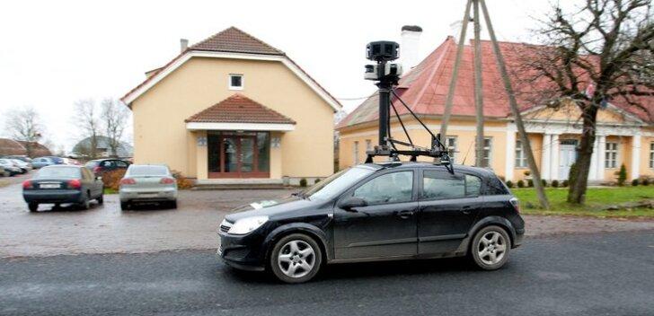 StreetView sõiduk Jõelähtmet kaardistama