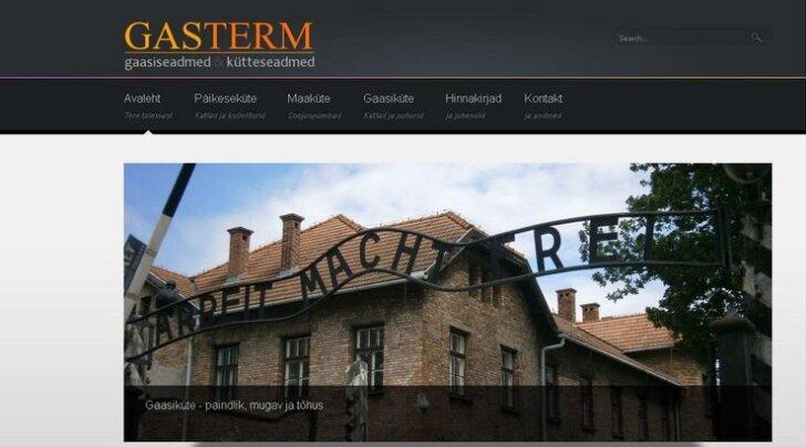 Эстонская фирма Gasterm рекламировала себя с помощью фото из Освенцима