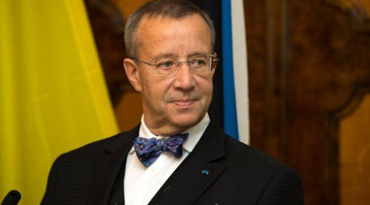 Ukraina president Eestis külas
