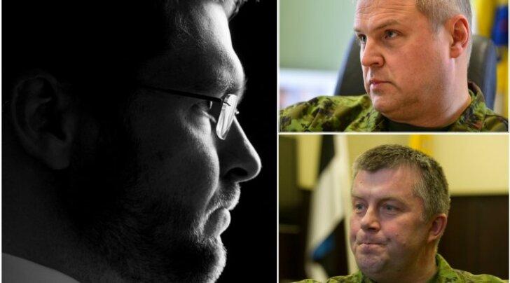 Ossinovski kaitsejõudude esindajatest odinlaste seas: lugupeetud Riho Terras ja Meelis Kiili, aitab pressiesindajate tanki lükkamisest