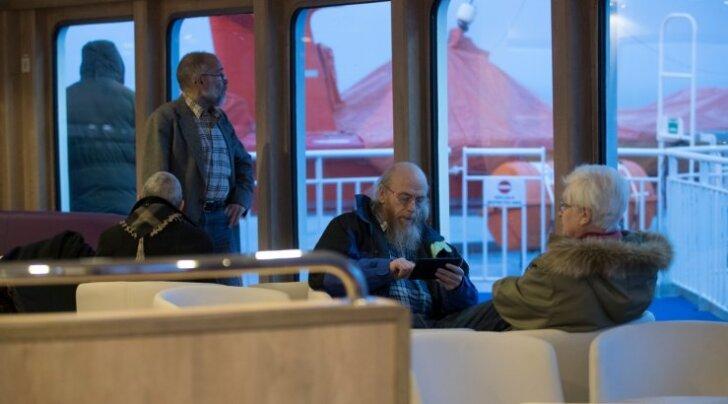 Leiger väljus oma esimesele liinireisile. Rohuküla-Heltermaa. TS Laevad