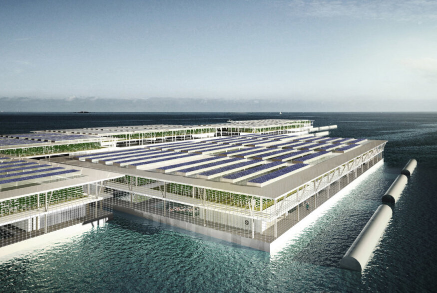 Tulevikufarm: päikesepaneelidel töötavad ujuvad kasvulavad