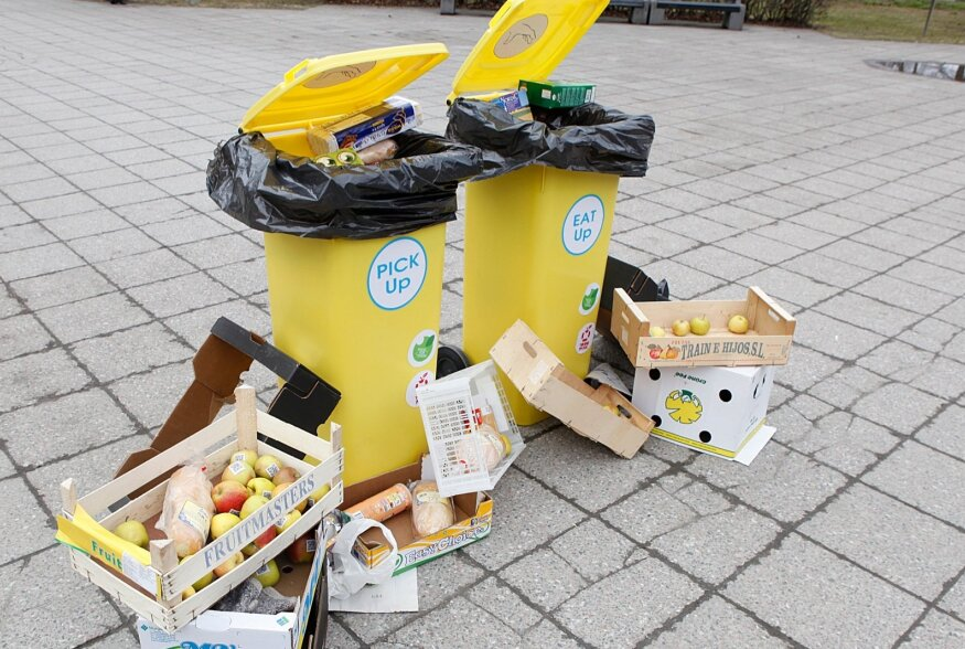 Toidur raiskamise - vastane üritus Tammsaare pargis.