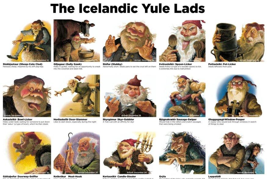 Huvitavad jõulutraditsioonid | Islandi 13 jõulutrolli