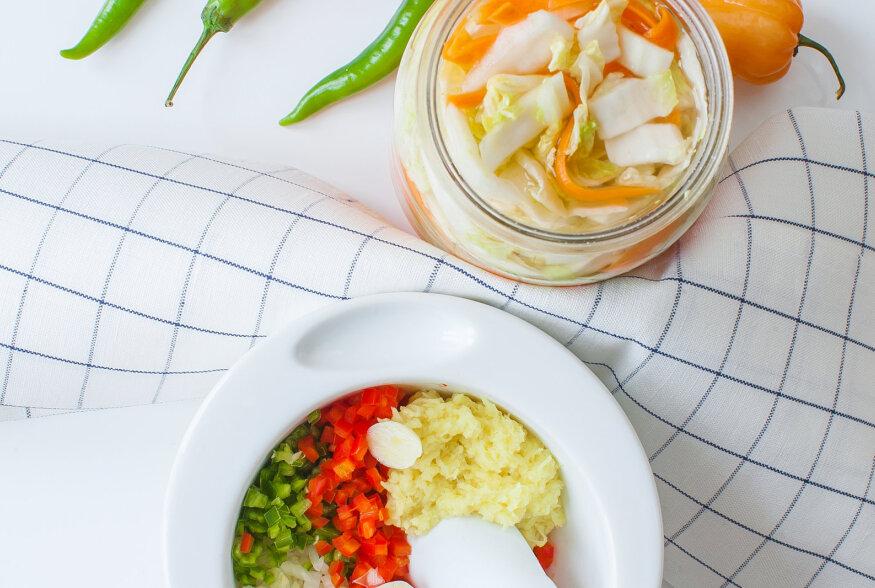 Kuidas teha tuleneelajate probiootikumi  kimchi 't?