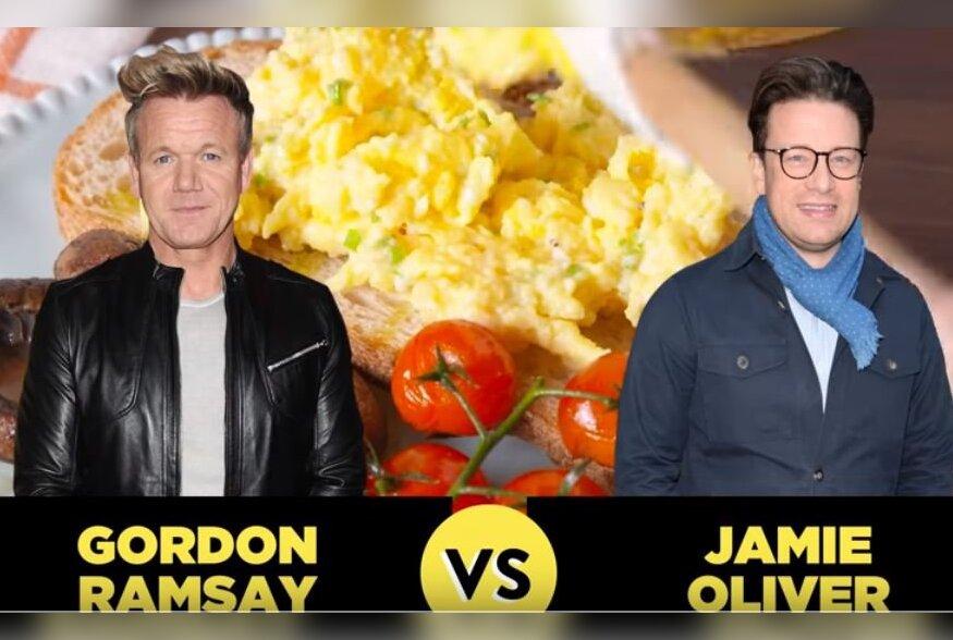 Roppsuu Gordon Ramsay Vs. toidumisjonär Jamie Oliver | Kumb suudab valmistada parema munapudru?