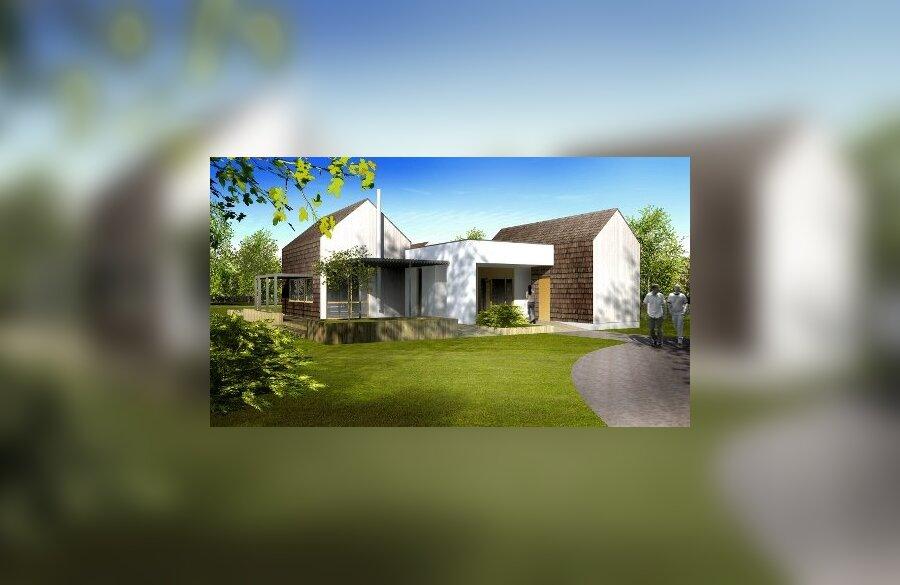 Selliseid peremaju ehitatakse Sinimäe hoolekandekülasse kuus<br>Vaivara Kaja