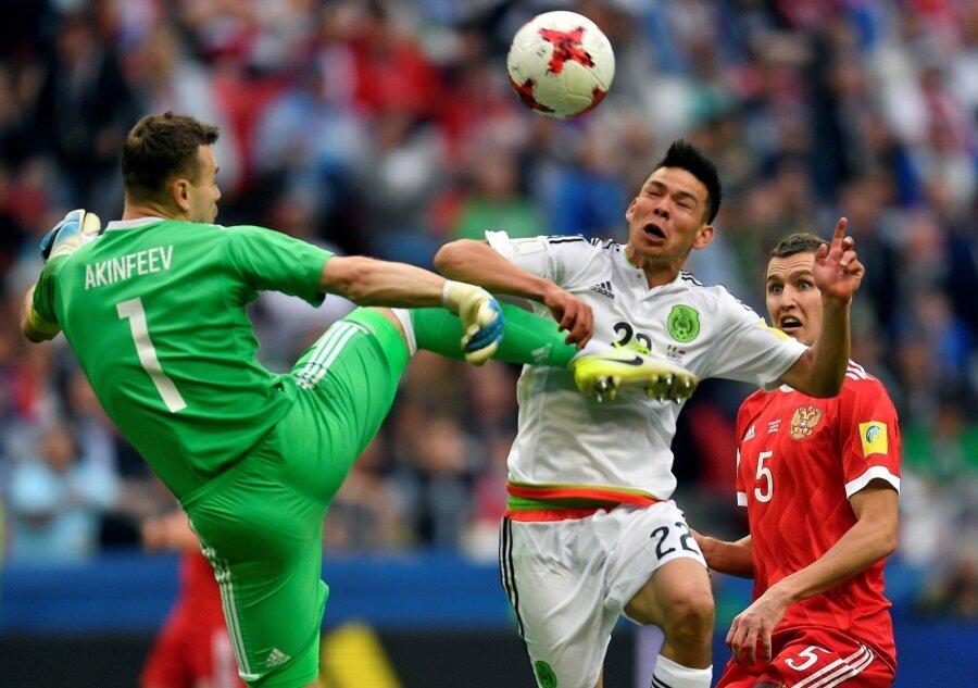 Сборная Российской Федерации проиграла мексиканцам инесмогла выйти вполуфинал Кубка конфедераций