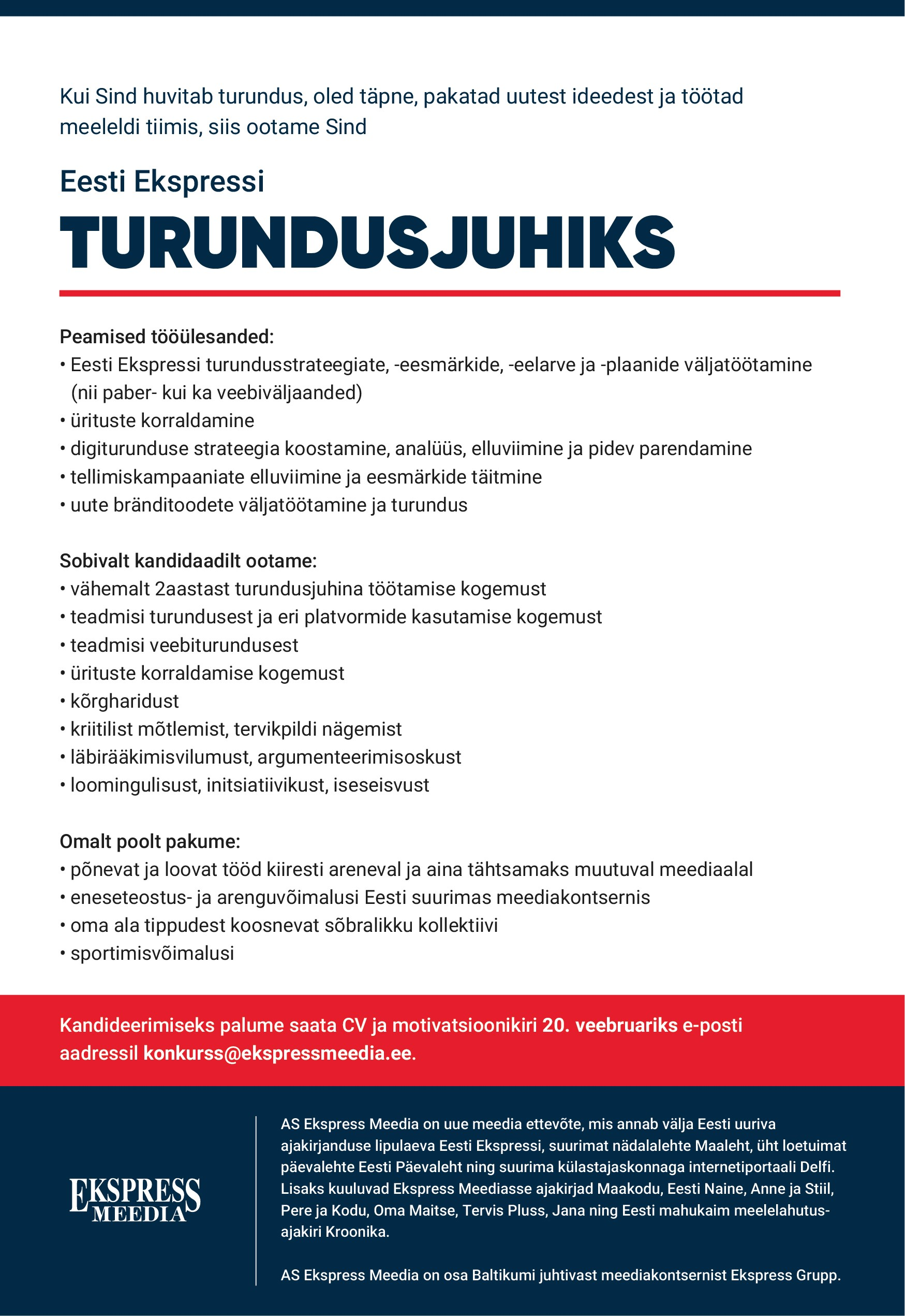 Eesti Ekspressi turundusjuht